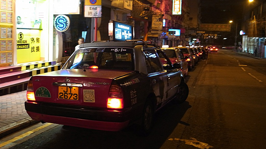 Some taxi in Hong Kong