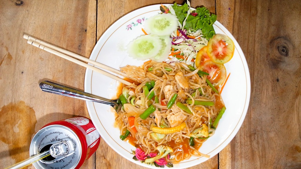 Thai noodles on the Khaosan Road in Bangkok