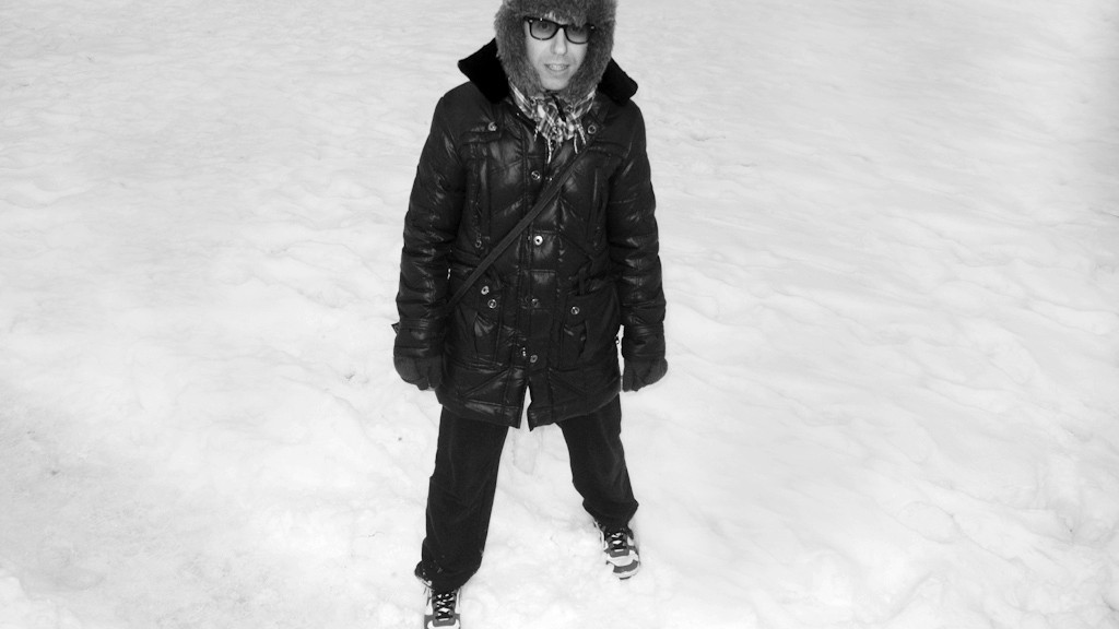 Americo in the snow