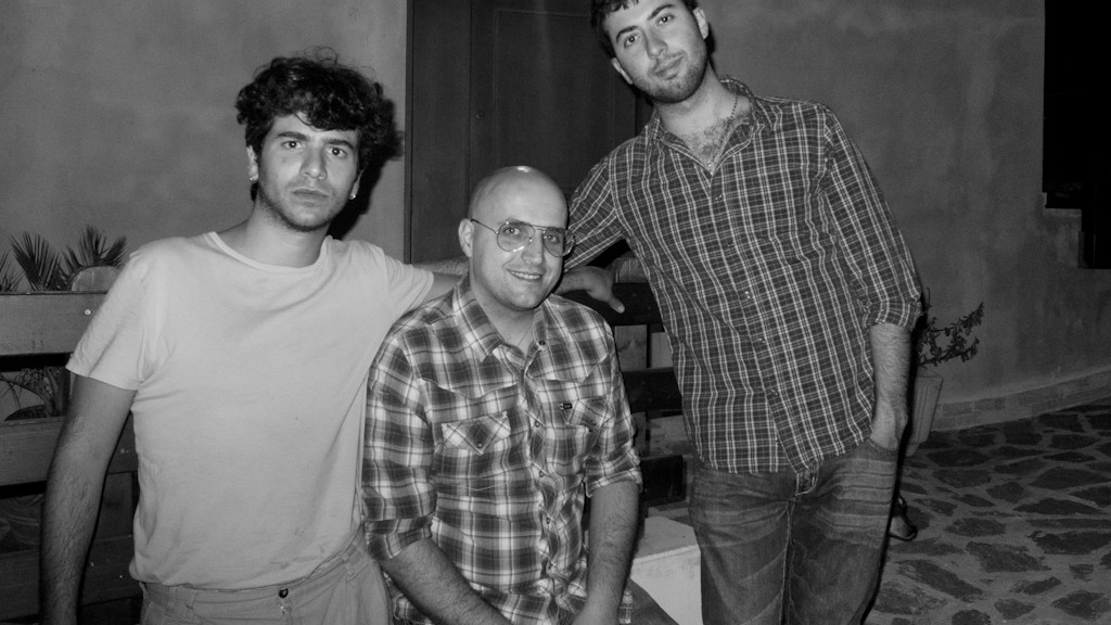 LUCA ROMAGNOLI, ME AND DAVIDE POMPEO FOR THE FIRST OF AUFF VIDEO CLIP