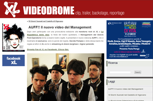 MANAGEMENT DEL DOLORE POST-OPERATORIO BRAND NEW VIDEO RELEASED ON XL REPUBBLICA RIGHT NOW!